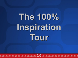 The 100% Inspiration Tour