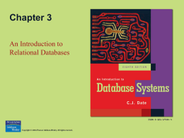 Date`s An Introduction to Database Systems, 8th ed