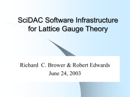 SciDAC Software C++ Language Interface
