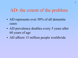 AD- the extent of the problem