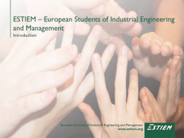 ESTIEM – European Students of Industrial