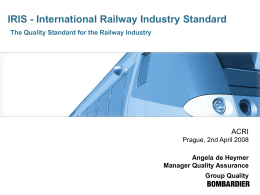 IRIS – International Railway Industry Standard A