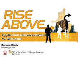Introducing Application Delivery Networking -