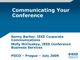 Communicating Your Conference