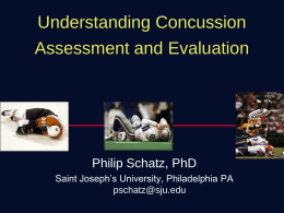 Neuropsychological Assessment of College Athletes