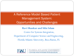 A Reference Model Based Patient Management System