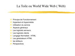 Qu`est ce que le Web