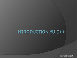 Introduction au C