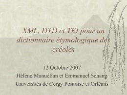 XML et la TEI au service du premier Petit Larousse