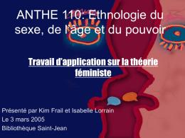 ANTHE 110: Ethnologie du sexe, de l'âge et du