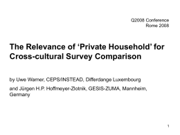 The Relevance of 'Private Household' for