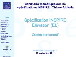 Spécification INSPIRE EL [Contexte normatif]