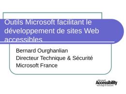 Outils Microsoft facilitant le développement de