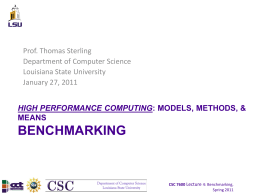 High Performance Computing: Concepts, Methods, &