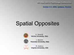 Spatial Opposites