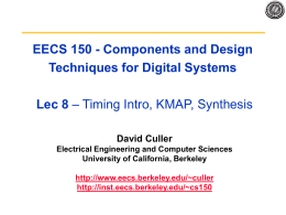 EECS 150 - Components and Design Techniques for