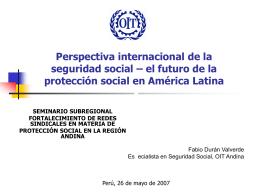Extensión de la protección social a los países