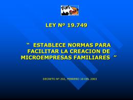 LEY Nº 19.749
