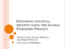 Exploring political identity using the Global