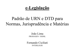 Padrão de DTD para Normas, Jurisprudência e