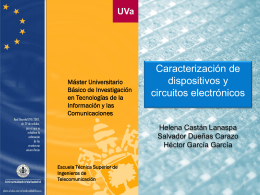 Caracterización de dispositivos y circuitos