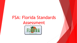 FSA: Florida Standards Assessment