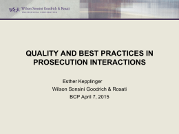 Practitioners and Examiners