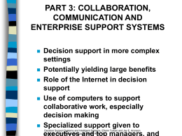 Part 3 COLLABORATION, COMMUNICATION AND ENTERPRISE
