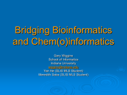 Bridging Bioinformatics and Chem(o)
