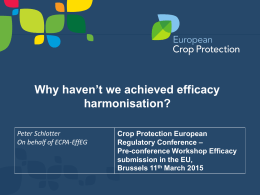 ECPA EffEG Pre-conference Efficacy 11th March 2015