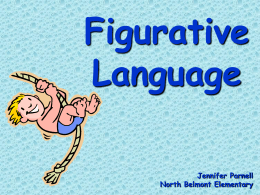 Figurative Language - Pender County Schools