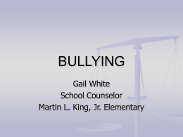 BULLYING - University of North Florida