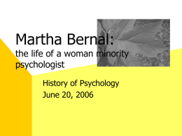 Martha Bernal - TU Organizations on the web