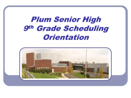 Plum Senior High