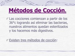 Métodos de Cocción.