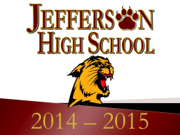 Jefferson County Schools Opening Day