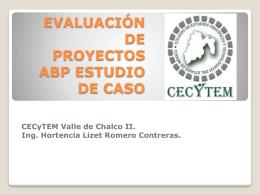 Evaluación de PROYECTOS ABP ESTUDIO DE CASO