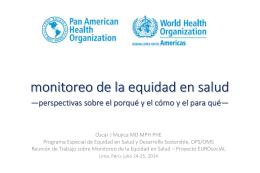 Monitoreo de la Equidad en Salud