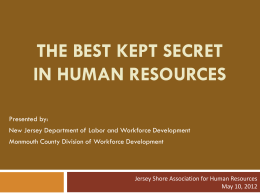 The Best Kept Secret in Human Resources""