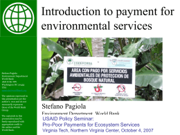 Introduction to payment for environmental services