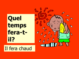 Quel temps fait-il? - Languages Resources
