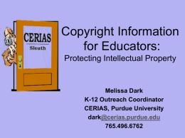 Copyright Information for Educators