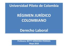 Universidad Piloto de Colombia RÉGIMEN JURÍDICO