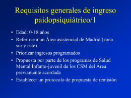 Requisitos generales de ingreso