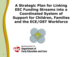 A Strategic Plan for Linking Funding Streams into