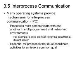 3.5 Interprocess Communication