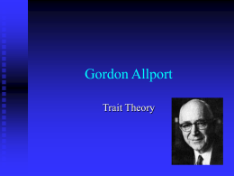 Gordon Allport - Home | Social Sciences | UCI