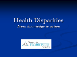Health Disparities in Georgia