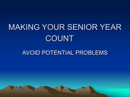 Senior Power Point - Cherokee County School