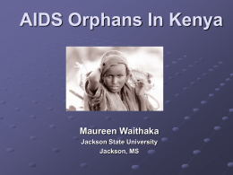 AIDS Orphans In Kenya - Adopt A Village In Africa